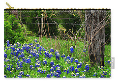 Fenced In Bluebonnets Carry-all Pouch by David and Carol Kelly