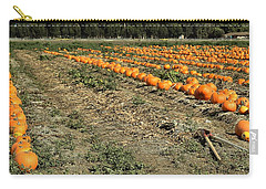 Carry-all Pouch featuring the photograph Fencing The Pumpkin Patch by Michael Gordon