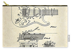 1956 Fender Tremolo Patent Drawing I Carry-all Pouch