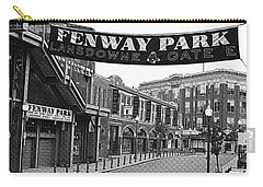 Fenway Park Banner Black And White Carry-all Pouch