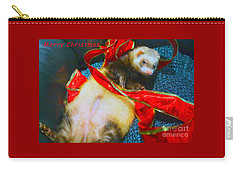 Carry-all Pouch featuring the photograph Ferrety Christmas IIi by Cassandra Buckley