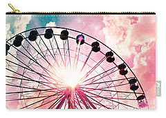 Ferris Wheel In Pink And Blue Carry-all Pouch
