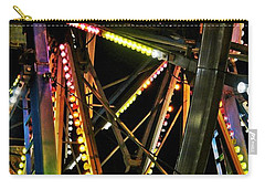 Carry-all Pouch featuring the photograph Lit Ferris Wheel  by Lilliana Mendez