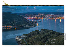 Carry-all Pouch featuring the photograph Ferrol's Estuary Panorama From La Bailadora Galicia Spain by Pablo Avanzini