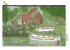 Carry-all Pouch featuring the painting Ferryman's Cottage by Tracey Williams