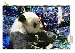 Festive Panda Carry-all Pouch by Mariola Bitner