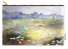Carry-all Pouch featuring the painting Field Of Daisies by Marilyn Zalatan