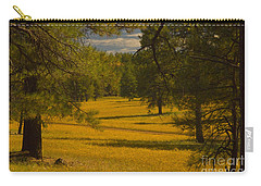 Field Of Flowers Carry-all Pouch by Rod Wiens