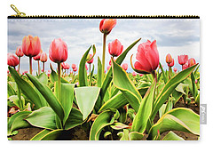 Field Of Pink Tulips Carry-all Pouch by Athena Mckinzie