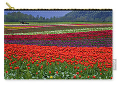Field Of Tulips Carry-all Pouch by Jordan Blackstone