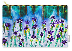 Field Of Violets Carry-all Pouch