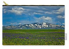 Field Of Wildflowers Carry-all Pouch by Don Schwartz