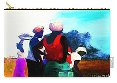 Carry-all Pouch featuring the painting Field Women by Vannetta Ferguson