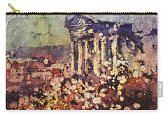 Fields Of Flower- And Roman Temple Carry-all Pouch