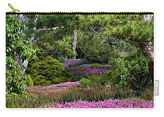 Carry-all Pouch featuring the photograph Fields Of Heather by Jordan Blackstone