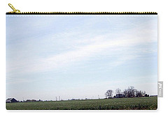 Carry-all Pouch featuring the photograph Fields Of Source by Bobbee Rickard