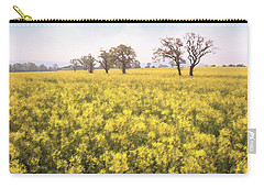 Fields Of Yellow Carry-all Pouch by Ron Harpham