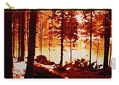 Fiery Red Landscape Carry-all Pouch