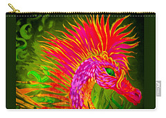 Carry-all Pouch featuring the painting Fiery Sea Horse by Adria Trail