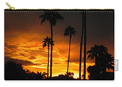 Carry-all Pouch featuring the photograph Fiery Sunset by Deb Halloran