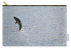 Fighting Chinook Salmon Carry-all Pouch by Mike  Dawson