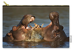 Fighting Hippo's Carry-all Pouch