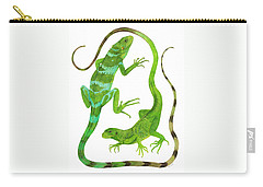 Fijian Iguanas Carry-all Pouch by Cindy Hitchcock