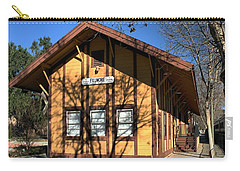 Carry-all Pouch featuring the photograph Fillmore Station by Michael Gordon