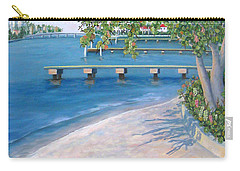 Carry-all Pouch featuring the painting Finding Flagler by Karen Zuk Rosenblatt