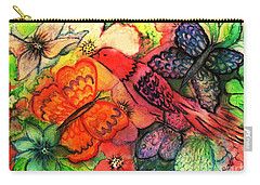 Carry-all Pouch featuring the painting Finding Sanctuary by Hazel Holland