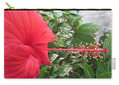 Fire And Ice Hibiscus Carry-all Pouch