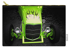 Classic Cars Carry-all Pouch featuring the photograph Fire And Water Green Version by Aaron Berg