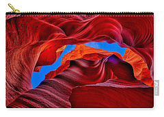 Fire Beneath The Sky In Antelope Canyon Carry-all Pouch