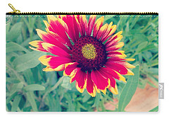 Carry-all Pouch featuring the photograph Fire Daisy by Thomasina Durkay