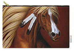 Carry-all Pouch featuring the painting Fire Dance by Pat Erickson