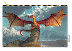 Fire Dragon Carry-all Pouch by Daniel Eskridge