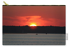 Carry-all Pouch featuring the photograph Fire In The Sky by Karen Silvestri