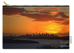 Carry-all Pouch featuring the photograph Fire In The Sky by Miroslava Jurcik