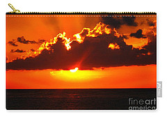 Carry-all Pouch featuring the photograph Fire In The Sky by Patti Whitten