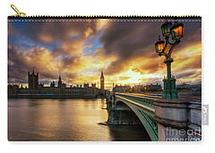 Fire In The Sky Carry-all Pouch by Yhun Suarez