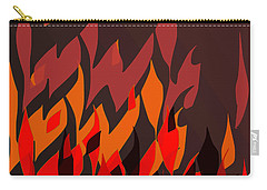 Carry-all Pouch featuring the digital art Fire by Mary Bedy