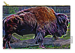 Fire Of A Bison  Carry-all Pouch by Miroslava Jurcik