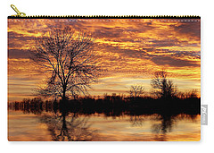 Fire Painters In The Sky Carry-all Pouch by Bill Pevlor