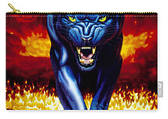 Fire Panther Carry-all Pouch by MGL Studio - Chris Hiett