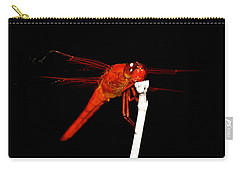 Carry-all Pouch featuring the photograph Fire Red Dragon by Peggy Franz