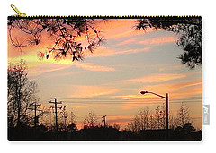 Carry-all Pouch featuring the photograph Fire Sky by Thomasina Durkay