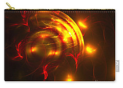 Carry-all Pouch featuring the digital art Fire Storm by Victoria Harrington