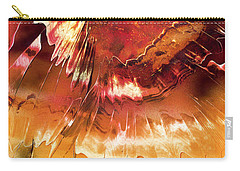 Carry-all Pouch featuring the painting Fired by Jason Girard
