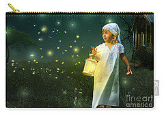 Fireflies Carry-all Pouch by Linda Lees