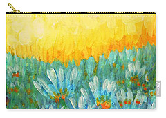Carry-all Pouch featuring the painting Firelight by Holly Carmichael